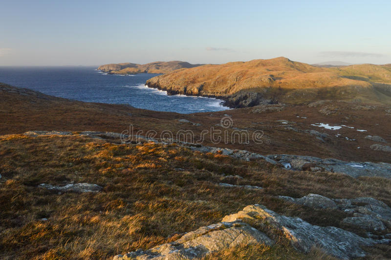 Mavis Grind, lugar bonito em ilhas de Shetland imagens de stock