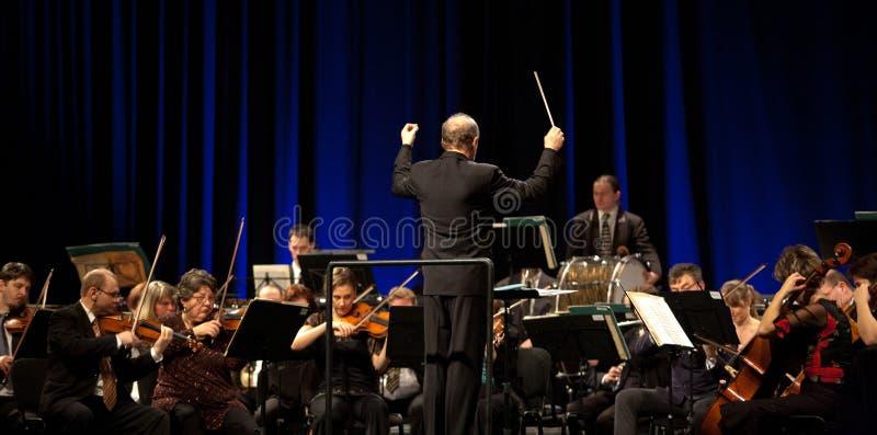 mavorkesteren utför symphonic arkivbilder