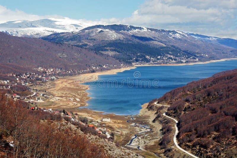 mavrovo jezioro Macedonii zdjęcia royalty free
