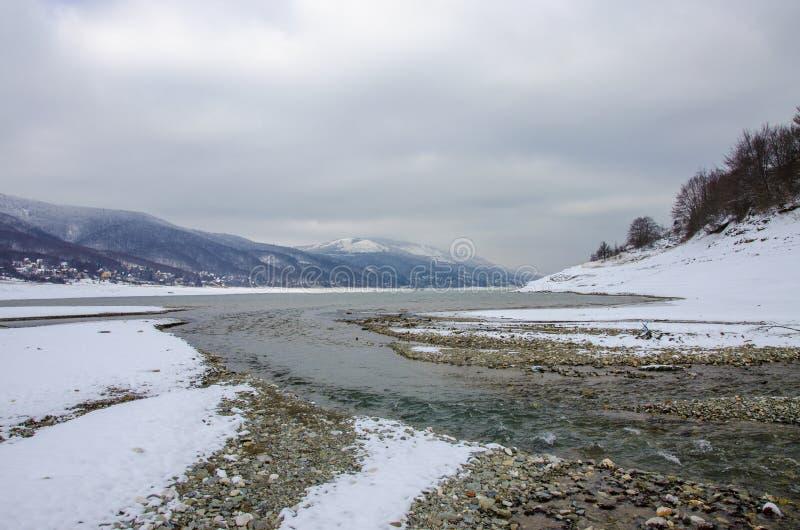 Mavrovo Macedonia, Mavrovo jezioro, - obraz royalty free