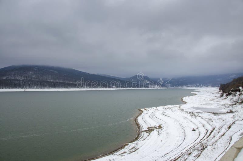 Mavrovo Macedonia, Mavrovo jezioro, - obrazy royalty free