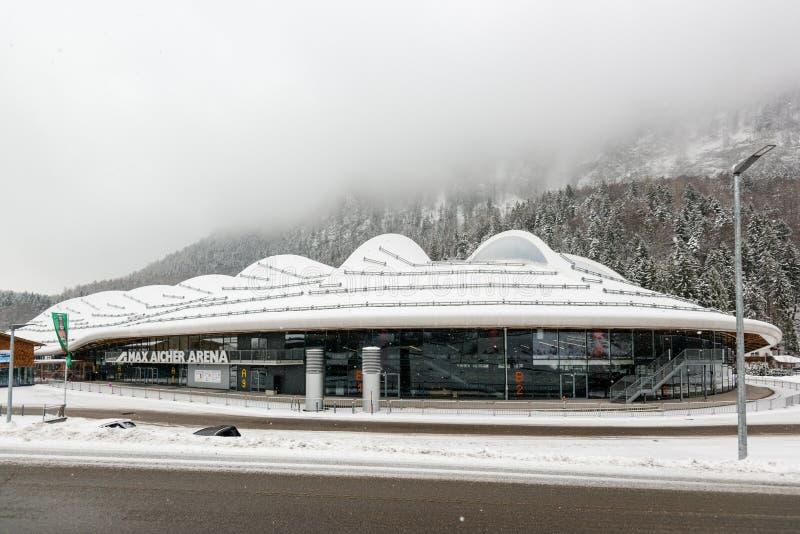 Max Aicher arena w Inzell, Niemcy zdjęcia stock