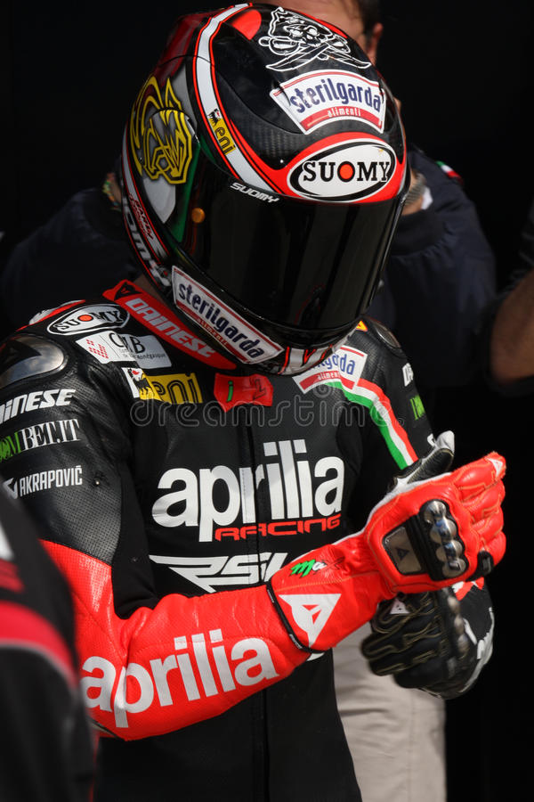 Download Max Biaggi Aprilia RSV4 Aprilia Racing Team Editorial Stock Image - Image: 24265569