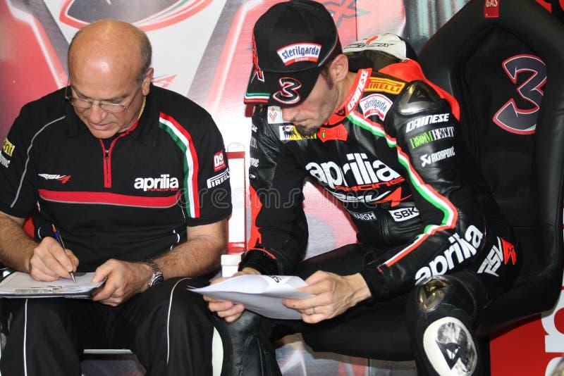 Download Max Biaggi Aprilia RSV4 Aprilia Racing Team Editorial Stock Photo - Image: 25441408