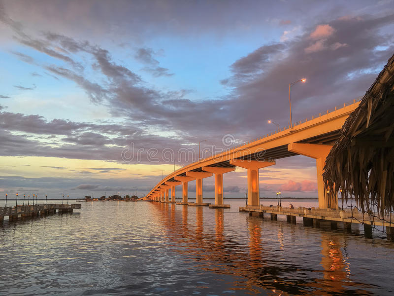 A Max Brewer Bridge, Titusville, Florida stock foto