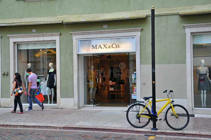 Max&Co store in Italy royalty free stock photography