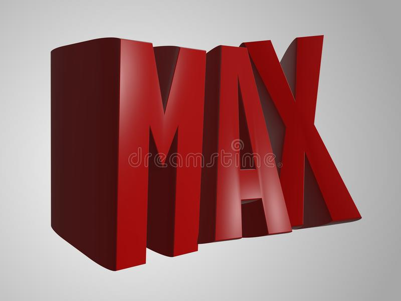 Max 3d odpłacają się słowo tekst ilustracja wektor