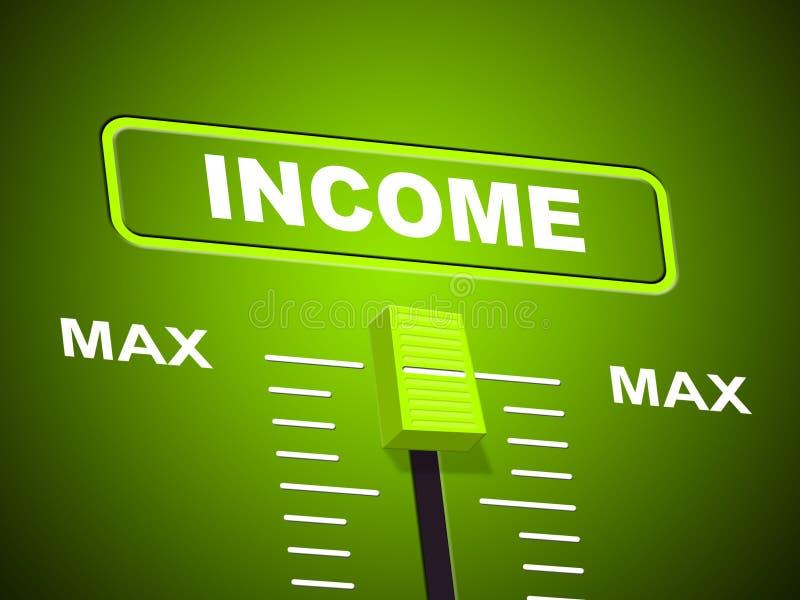 Max dochód Reprezentuje Górnego ograniczenie I Najwięcej royalty ilustracja
