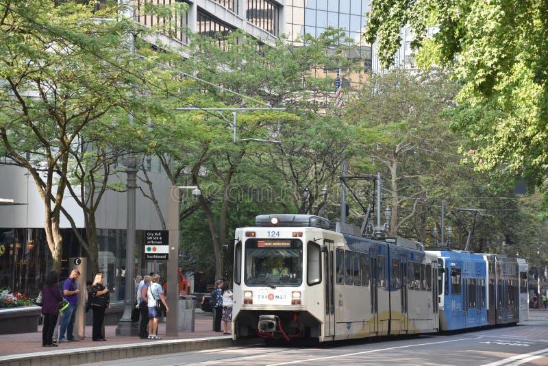 MAX Light Rail Streetcar in Portland, Oregon royalty-vrije stock fotografie