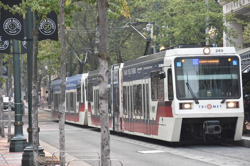 MAX Light Rail Streetcar in Portland, Oregon royalty-vrije stock foto