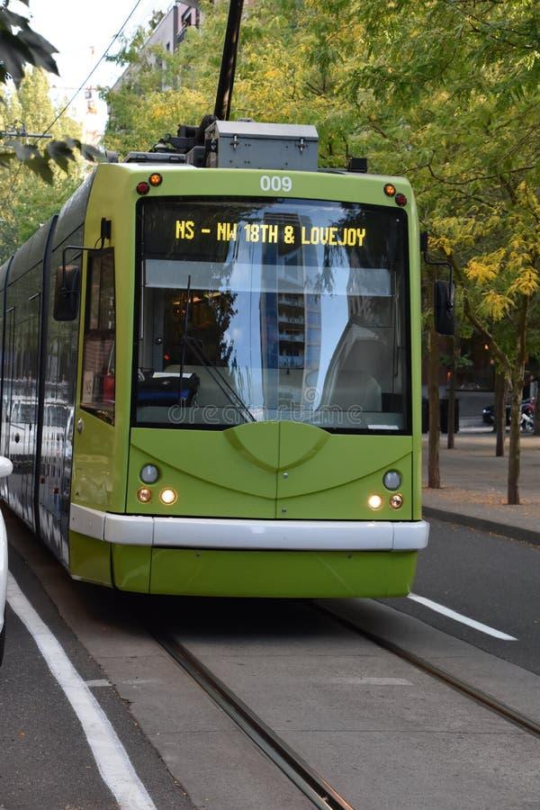 MAX Light Rail Streetcar in Portland, Oregon royalty-vrije stock foto's