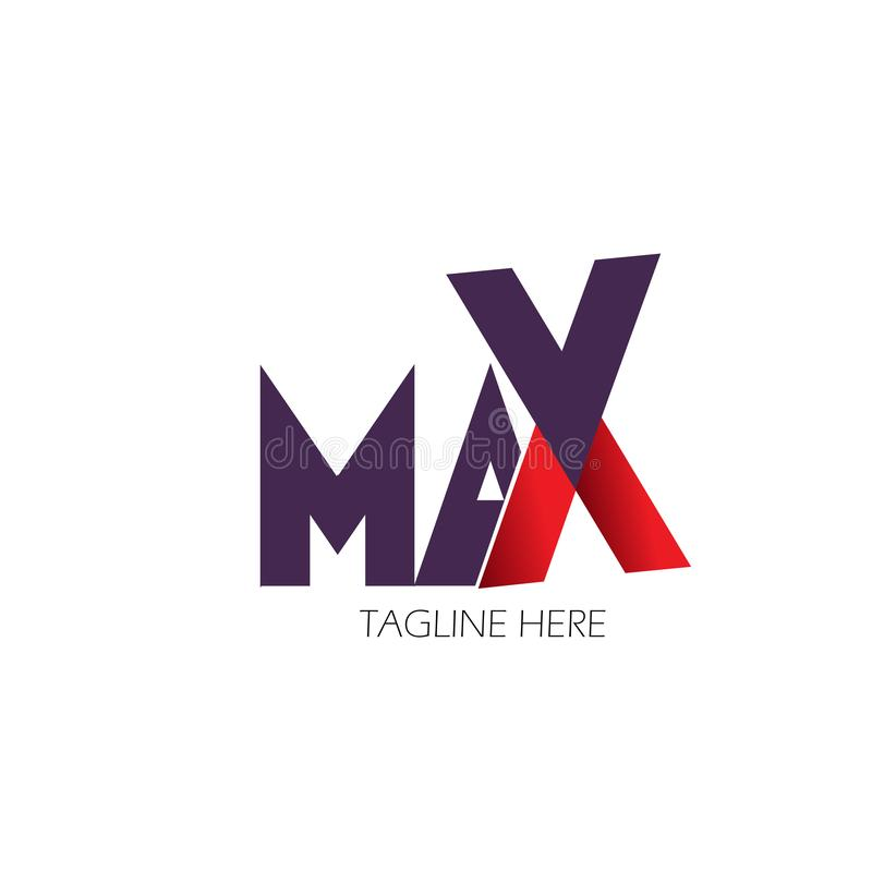 Max Logo Letter Vector Template Design Illustration. Background isolated maximum text business symbol modern white graphic style icon word creative speed vector illustration