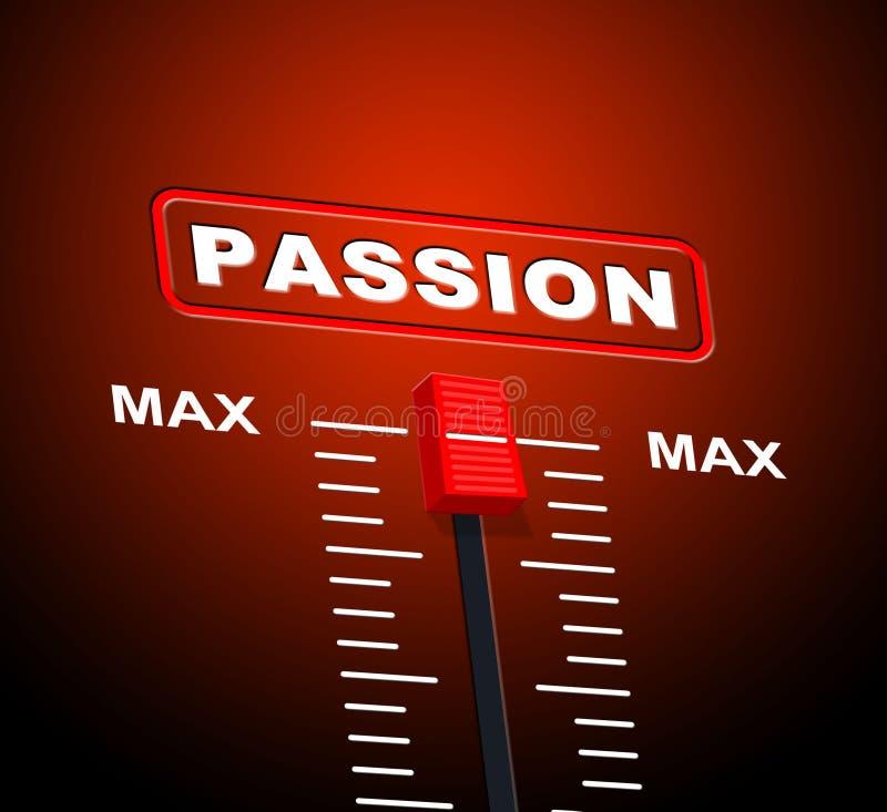 Max Passion Shows Sexual Desire et plafond illustration stock