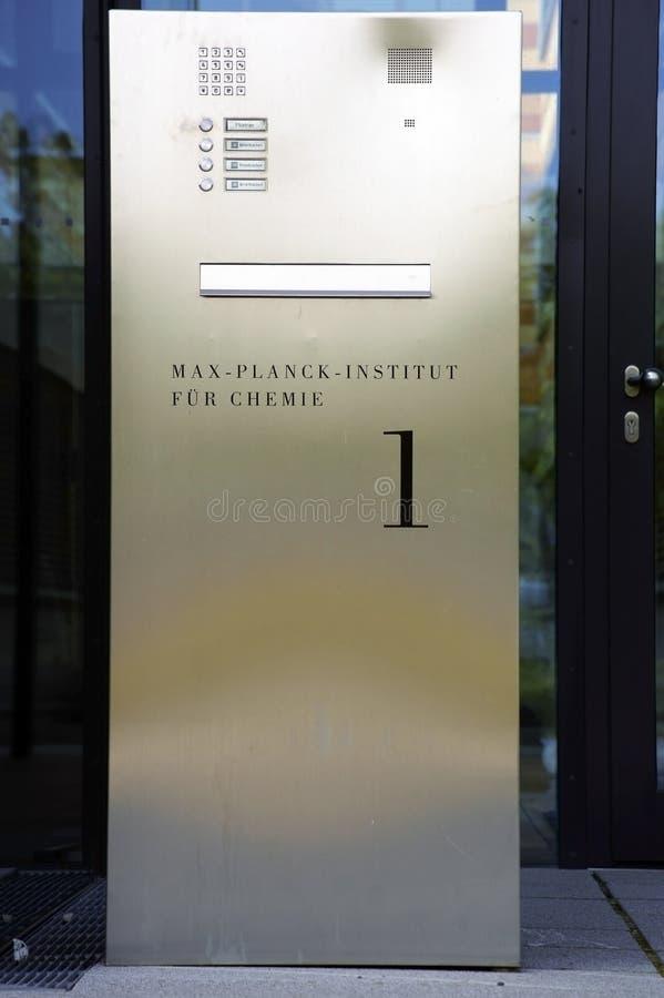 Max Planck Institute para a química imagens de stock royalty free