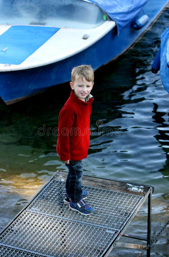 Max at the river stock photography