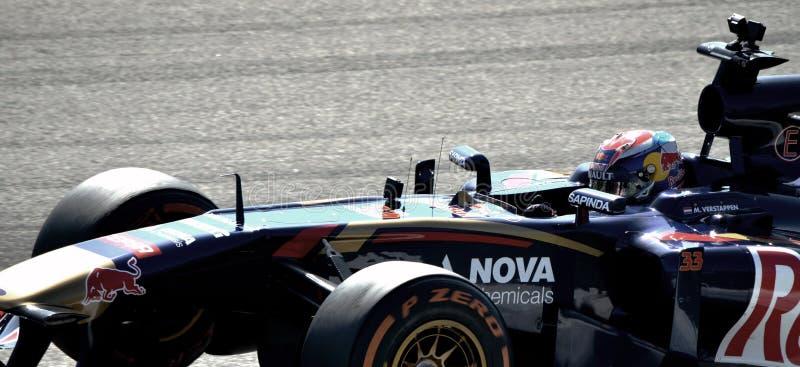 Max Verstappen com seu Torro Rosso imagem de stock royalty free