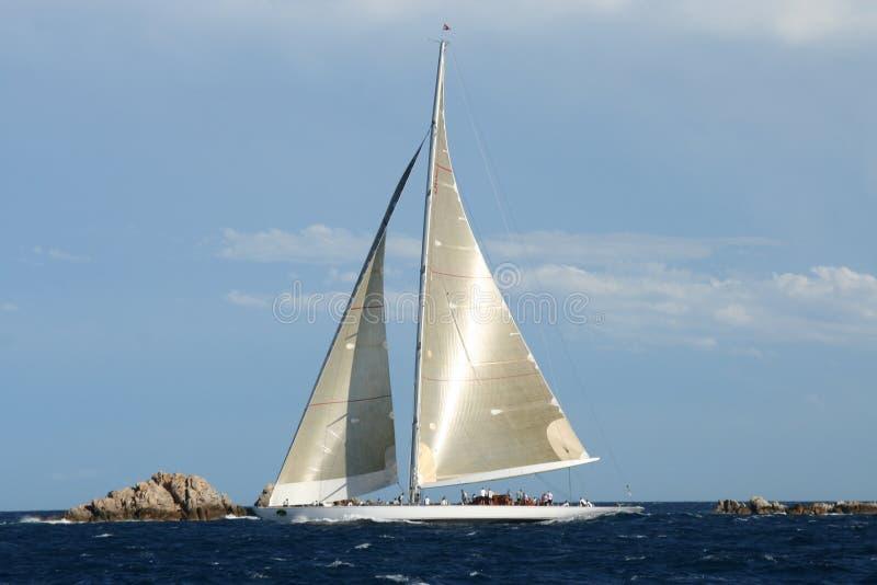Maxi guardia forestale dell'yacht del J-Codice categoria immagini stock libere da diritti