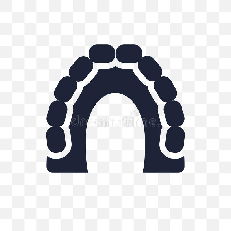 Maxilla transparant pictogram Maxilla symboolontwerp van Tandartscol. vector illustratie
