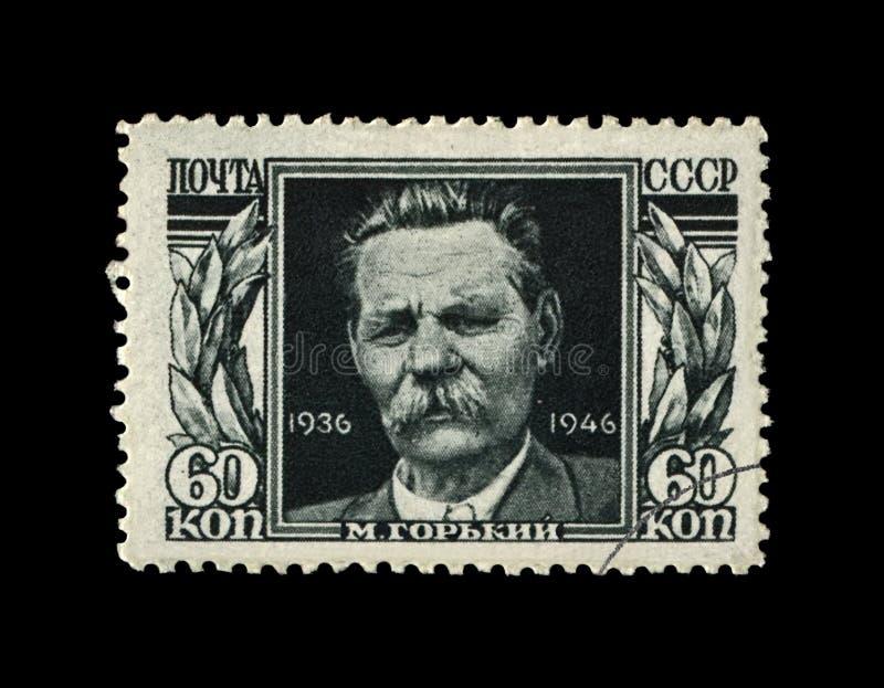Maxim Gorky alias Alexei Maximovich Peshkov 1868-1936, berühmter russischer Verfasser, Dramatist, Politiker, UDSSR, circa 1946, stockbild