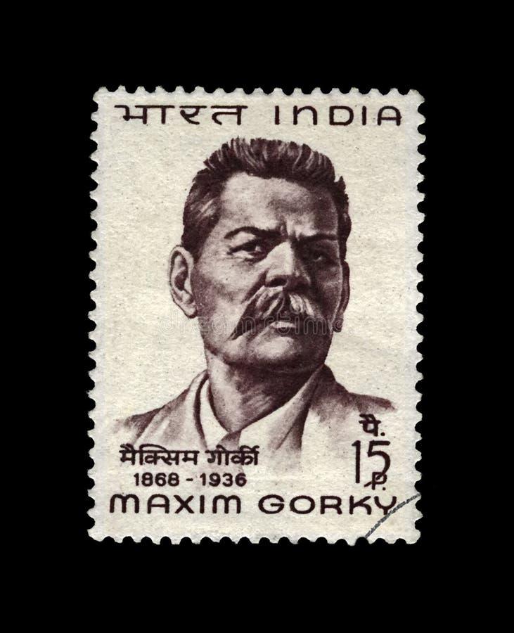 Maxim Gorky (1868-1936), auteur russe célèbre, Inde, vers 1968, images stock