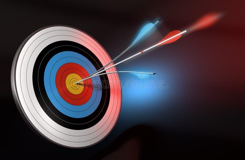 Maximaal concurrentievermogen vector illustratie