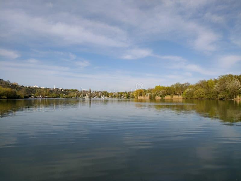 Maximal-Eyth-sjö Stuttgart arkivbilder