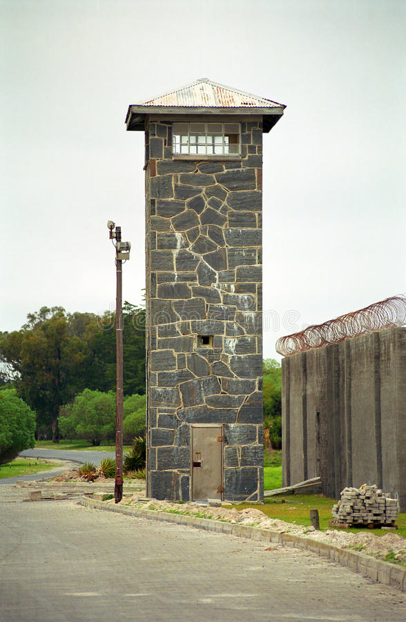 Maximal säkerhetsfängelse, Robben ö som är södra - afrikansk republik royaltyfria foton