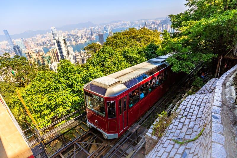 Maximal spårvagn Hong Kong arkivfoto