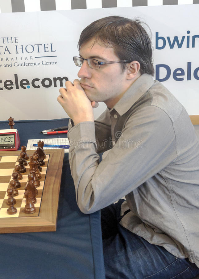 Maxime Vachier Lagrave obraz royalty free