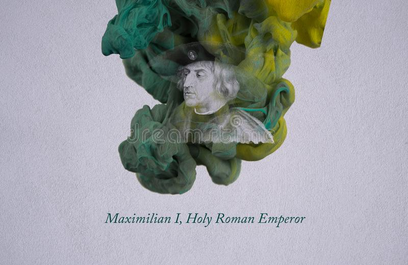Maximilian mim, imperador romano santamente ilustração stock