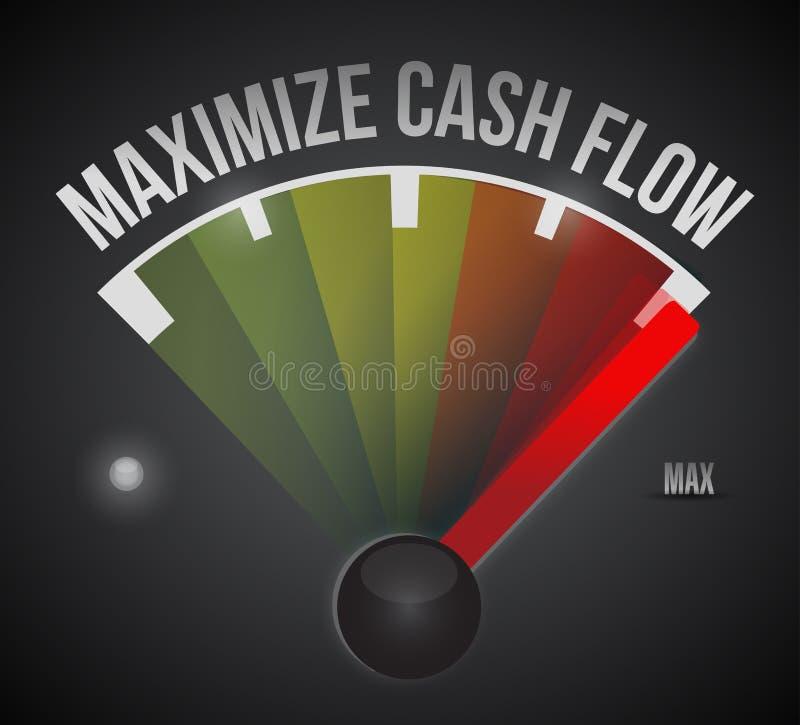 Maximize cash flow mark illustration design. Over a black background stock illustration