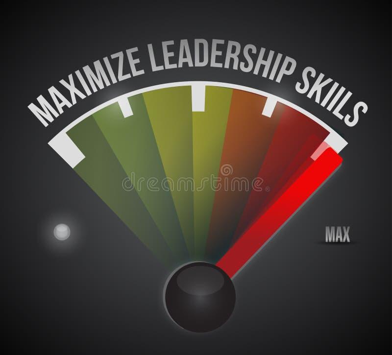 Maximize habilidades da liderança à ilustração máxima ilustração stock
