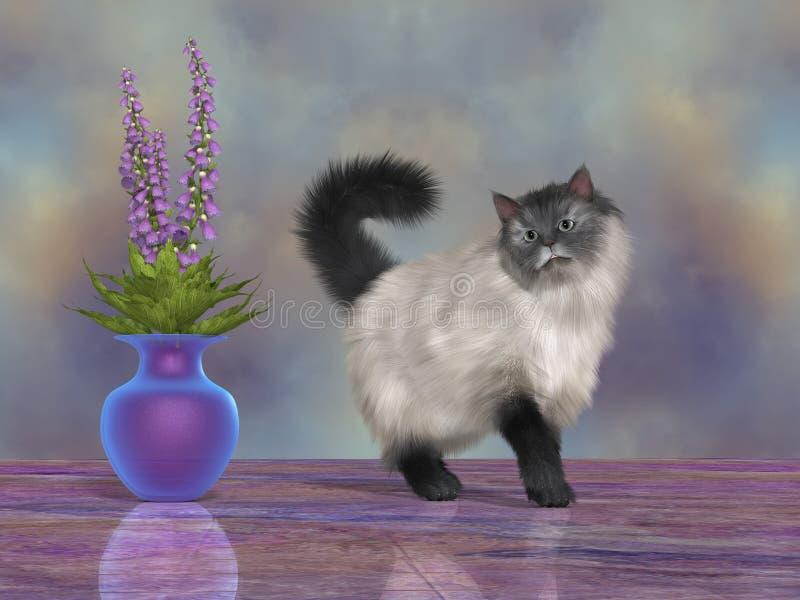 Maximum de Kat van het Huis vector illustratie