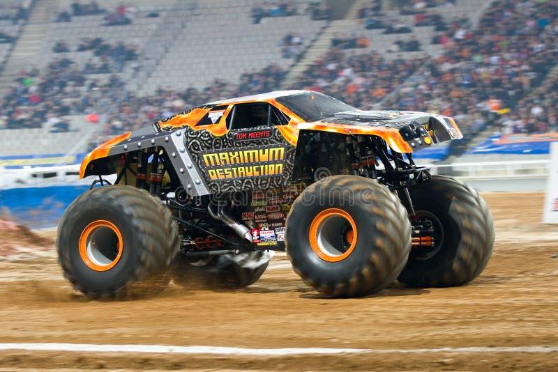 Download Maximum Destruction Monster Truck Editorial Photo - Image of acrobatics, rider: 24842361