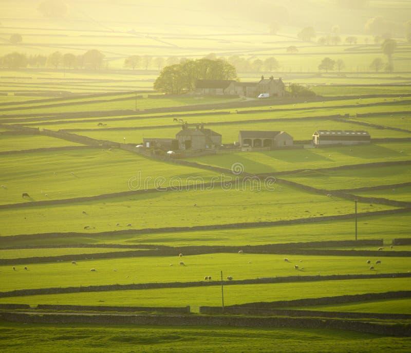 maximum för derbyshire områdesengland nationalpark arkivfoto