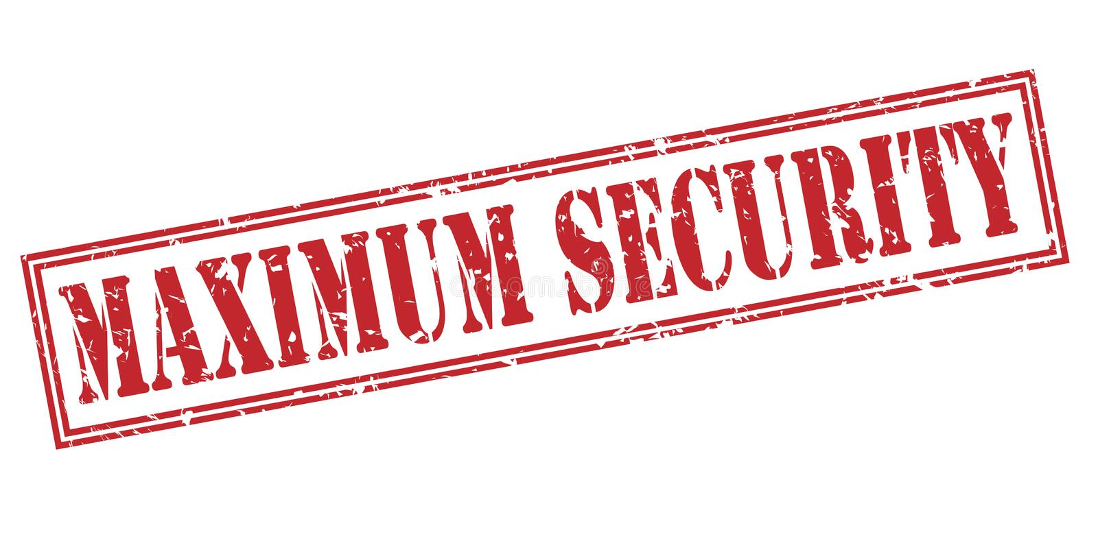 Maximum security red stamp royalty free illustration