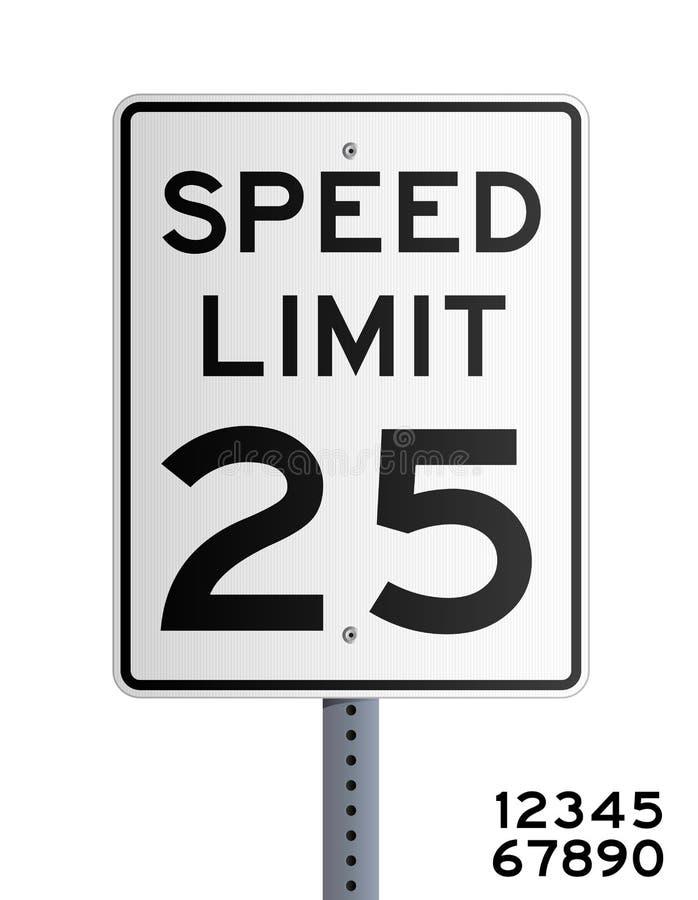 Maximum snelheid stock illustratie