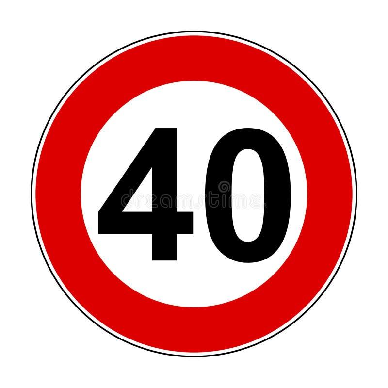 Maximum snelheidtekens van 40 km - vector vector illustratie