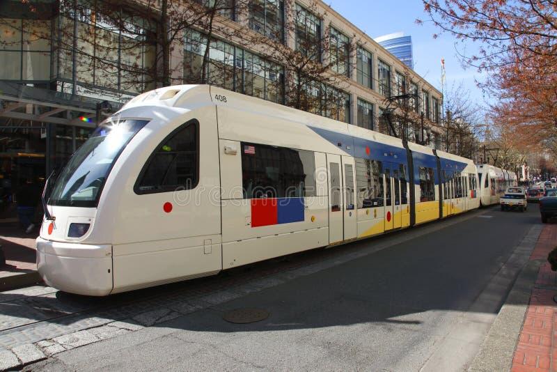 Maximum trein, Portland OF. stock afbeeldingen