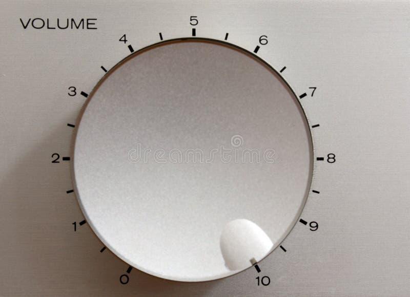 Maximum volume. Hi-Fi Amplifier volume control set to maximum stock photography