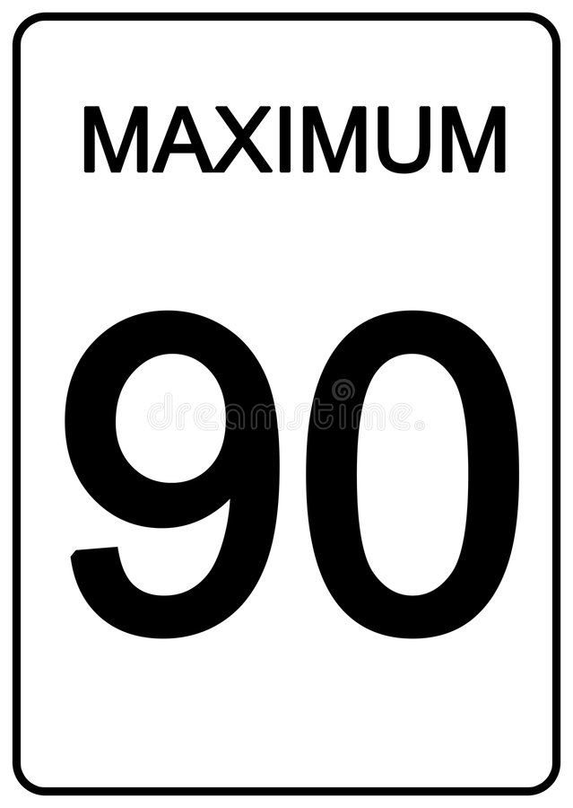 Maximun Speed Sign stock illustration