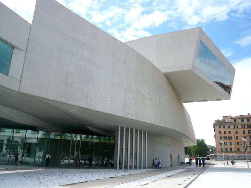 MAXXI-Museum, Rome, Italië stock afbeelding