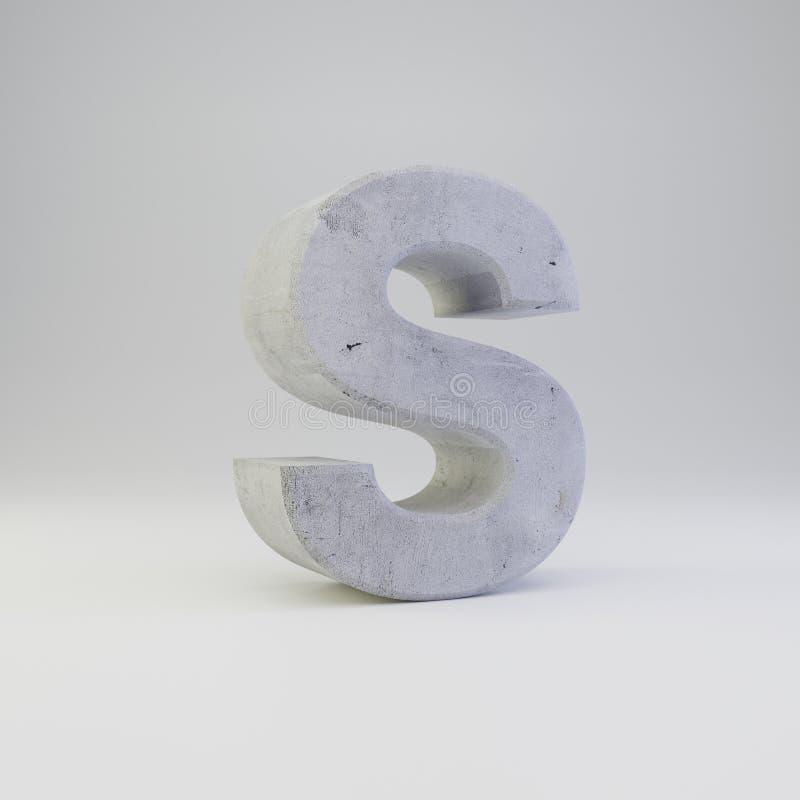 May?scula concreto de la letra S con la textura del yeso aislada en el fondo blanco imágenes de archivo libres de regalías