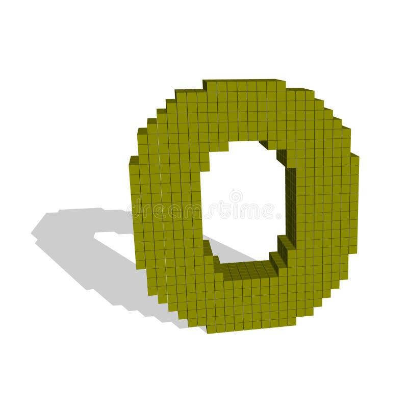 mayúscula pixelated 3d O Ilustración del vector ilustración del vector