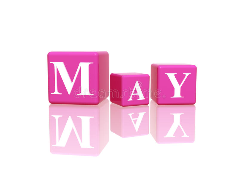 May in 3d cubes royalty free illustration