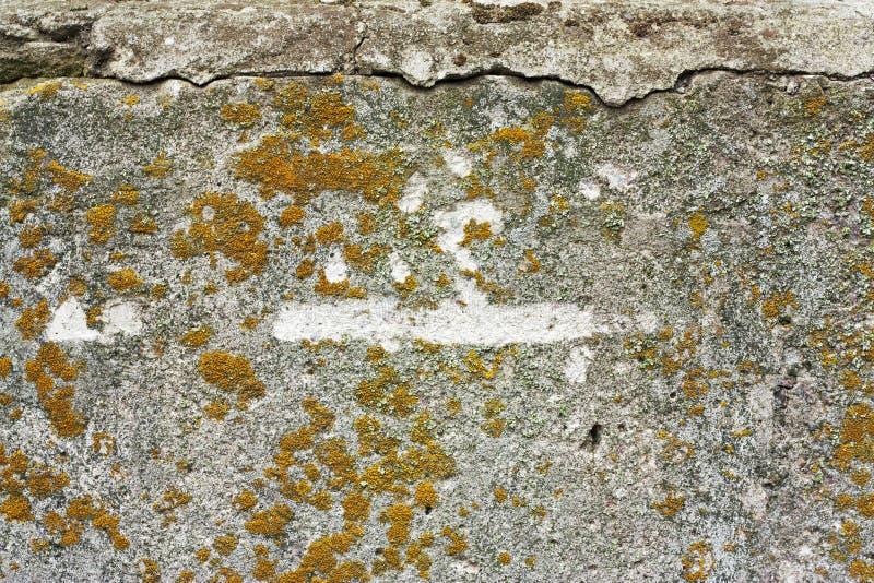 May att anv?ndas som bakgrund eller textur Gammal smutsig cementtextur med defekter Riden ut Grungeyttersida med sprickor och fotografering för bildbyråer
