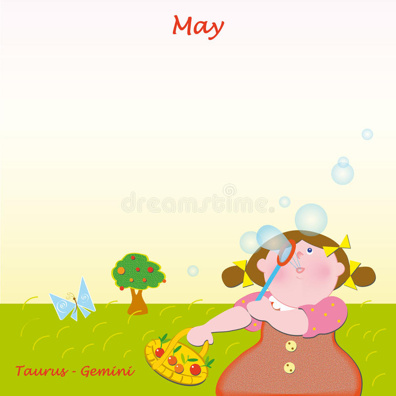 May base calendar to add the days stock photo