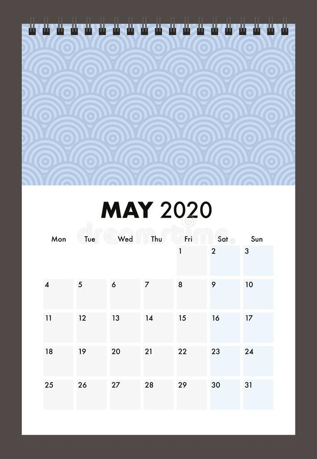 May 2020 calendar with wire band royalty free stock photography