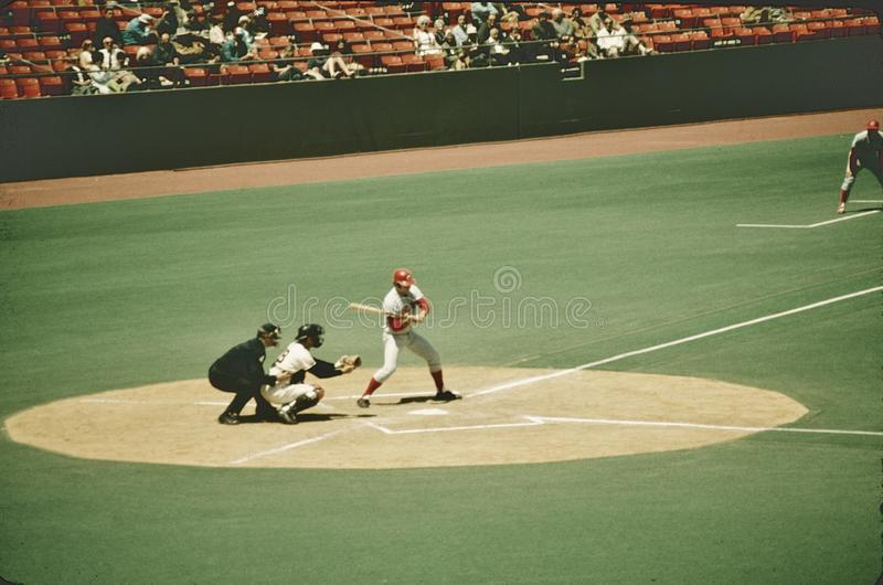Pete Rose Vs SF Giants at Candlestick Park May 21 , 1971 royalty free stock photography