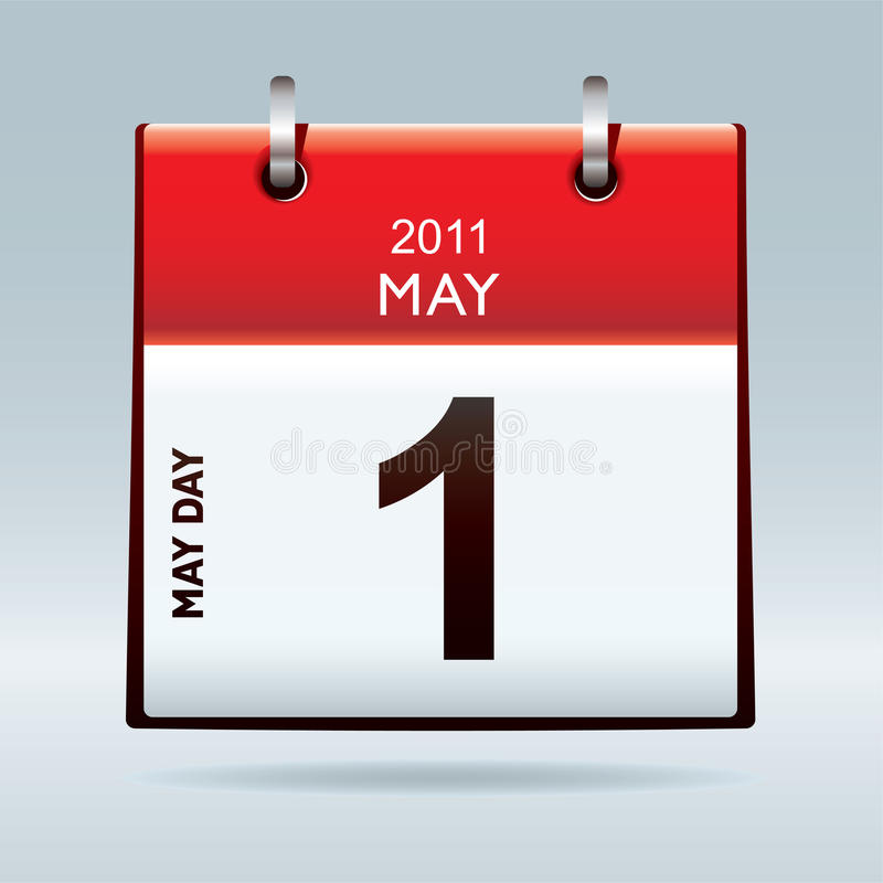 Download May day calendar icon stock vector. Image of binder, design - 18006242